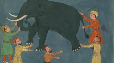 Jalal_al-Din_Rumi,_Maulana_-_Townspeople,_Who_have_Never_Seen_an_Elephant,_Examine_its_Appearance_in_the_Dark_-_Walters_W626117B_-_Full_Page